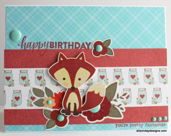 Fox Happy Birthday card by Alison Day
