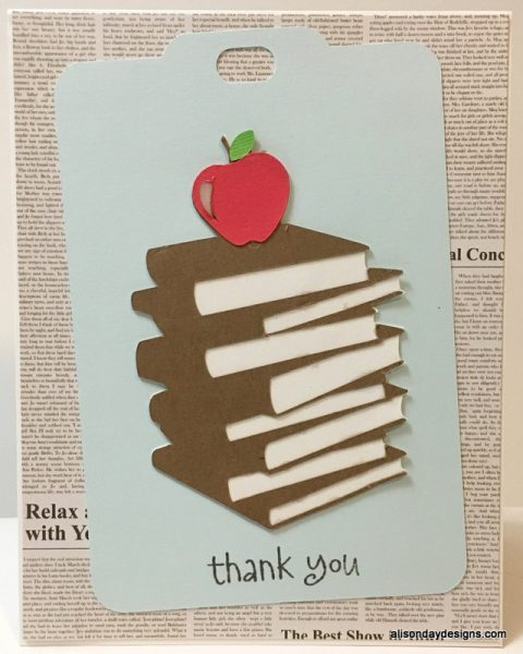 single thank you card for teacher by Alison Day