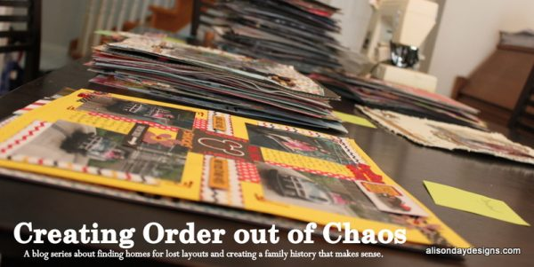 New blog series - Creating Order out of Chaos by Alison Day
