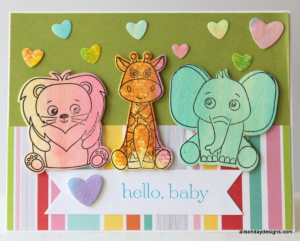 First baby card - son  by Alison Day